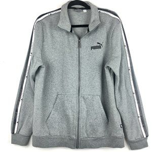 Puma Sweatshirt w/Striped Side Band Full Zip Sz L